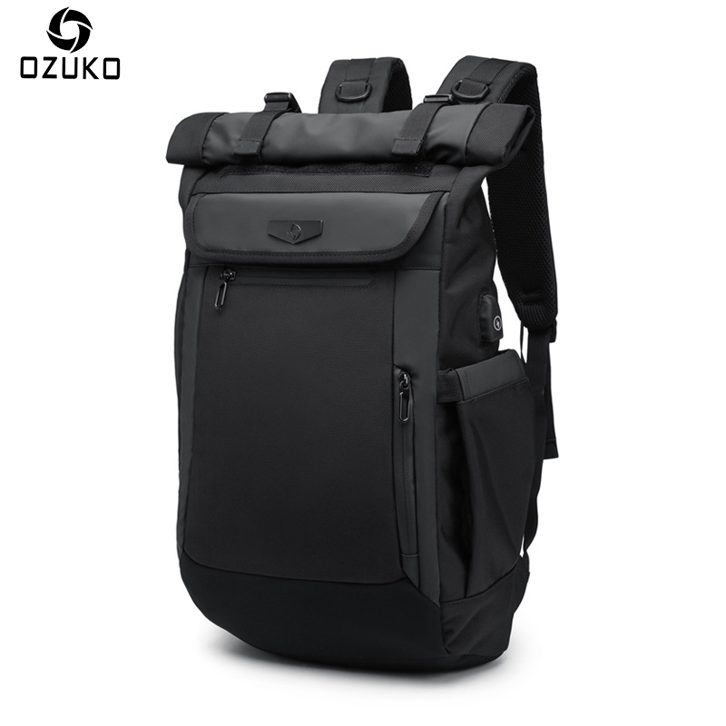 OZUKO New Men Backpack Multifunction USB charging Laptop Backpacks For Teenager Fashion Schoolbag waterproof Male Travel