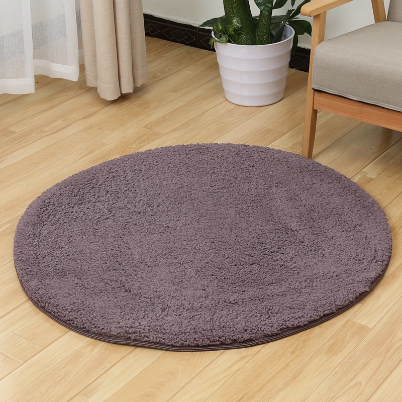 Zeegle CamoFleece Round Carpet For Living Room Shaggy Kids Bedroom Carpets Anti-slip Baby Play Mats Computer Chair Floor Mats