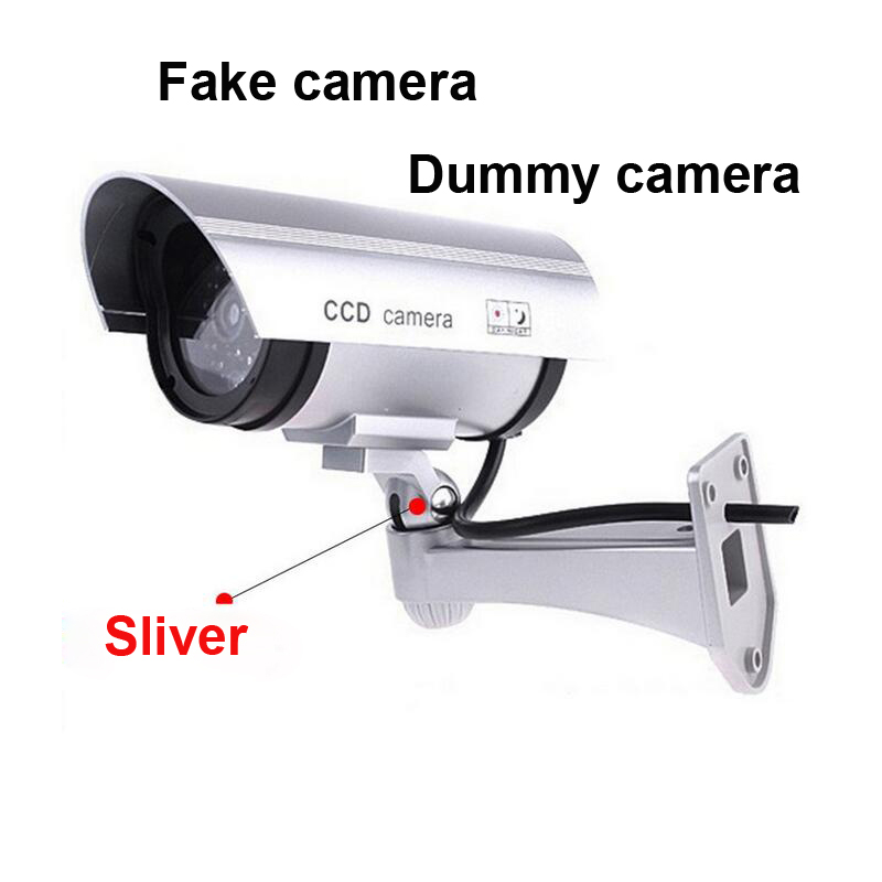 Outdoor Fake Dummy Camera Outdoor Indoor Waterproof Security CCTV Surveillance Videcam with LED ligh