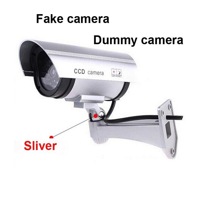 Outdoor Gefälschte Dummy Kamera Outdoor Indoor Wasserdichte Sicherheit CCTV Überwachung Videcam mit LED ligh