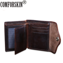 COMFORSKIN Carteira Masculina New Arrivals 2018 Guaranteed 100% Genuine Leather Card Wallet Hot Brand Vintage Style Men Wallets