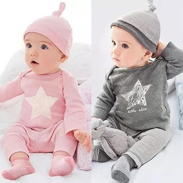 Super 2017 Printemps style bébé garçon fille vêtements définit coton  IJ01