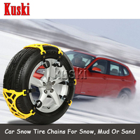 6X Car Snow Tire Anti skid Chains For Renault Duster Laguna Megane 2 3 Logan Captur Clio For Saab 9 3 9 5 93 For MG 3 ZR