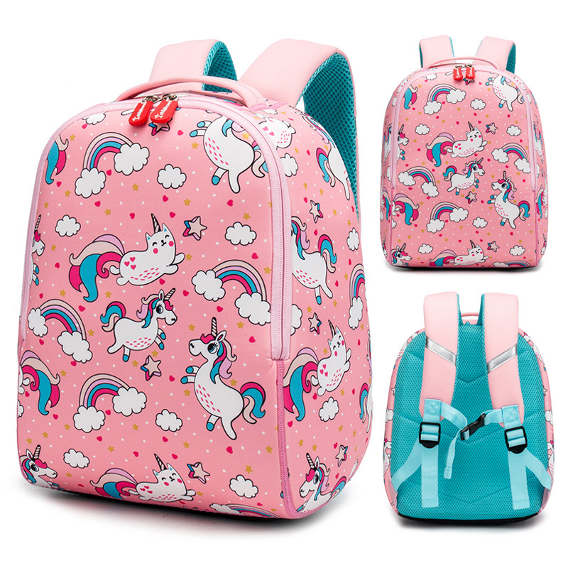 2019 New Unicorn School Bags For Girls Cute Animals Designer Children Kids Backpack Boys Schoolbag Book Bag Gift Mochila Escolar