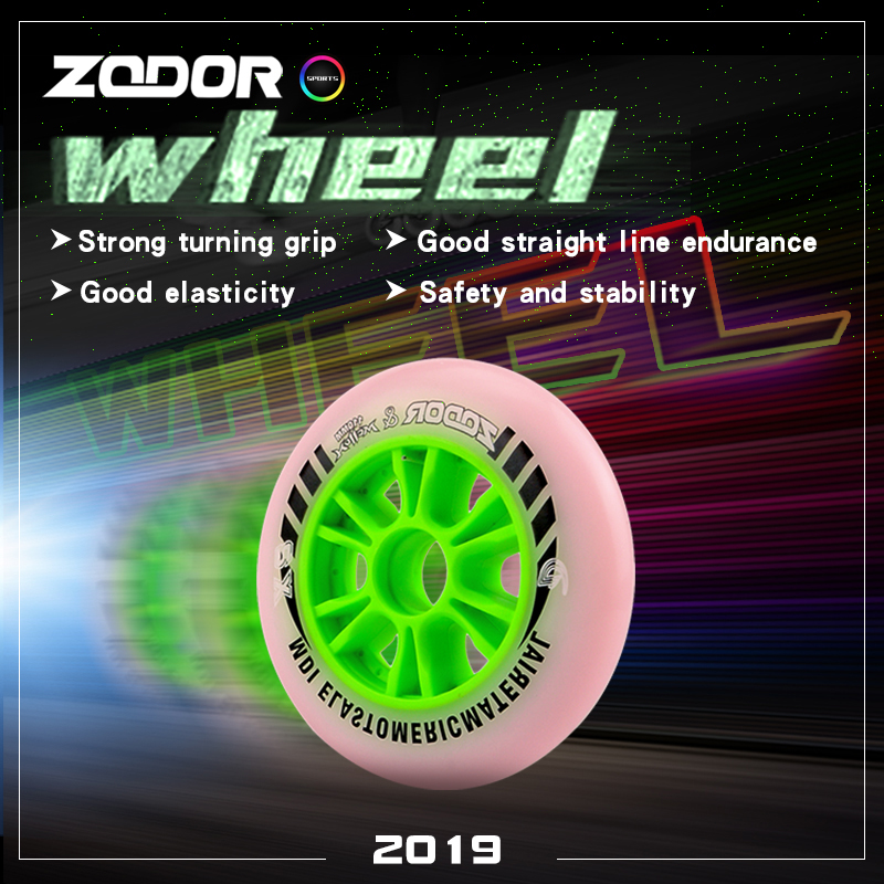 Double Hardness Speed Skating Wheels 90mm 100mm 110mm Competition Skate Wheels Professional Speed Inline Skate Wheels