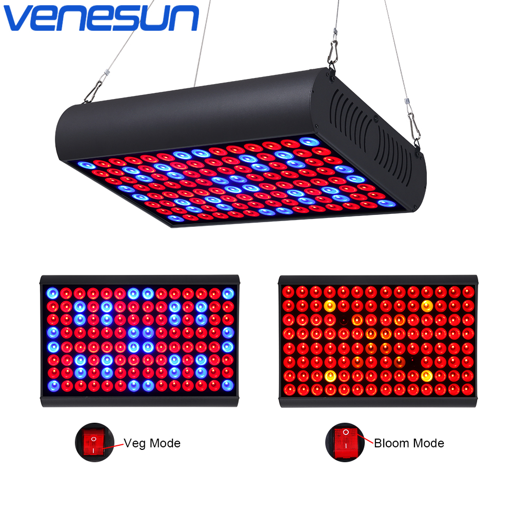 LED Grow Light 300W Full Spectrum Panel with Veg & Bloom Dual Mode Growing Lamps with Extendable Jack for Greenhouse Plants Grow full spectrum cob 400w led grow light grow leds growing tent for hydroponic indoor greenhouse garden plants growing veg bloom