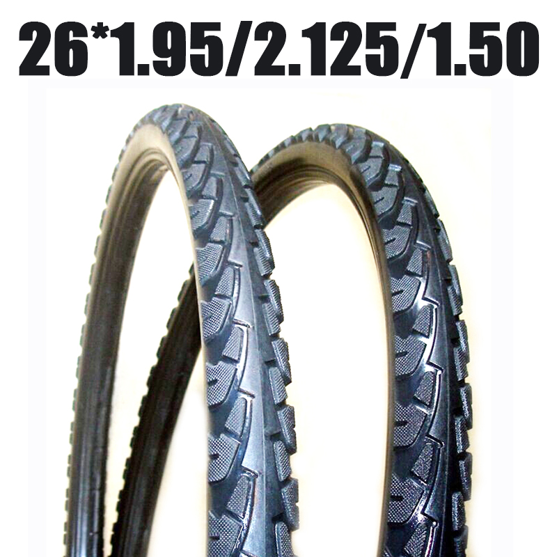 Однотонные шины, подходящие для размеров 26*1,95 26*2,125 26*1,50 1 шт., шина с фиксированным надуванием, сплошная шина для горного велосипеда