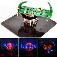 New DIY Spherical Rotating LED Kit Creative POV Soldering Training Kit