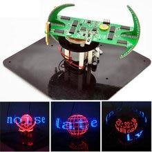 Nowy DIY kuliste obracanie zestaw LED POV lutowania zestaw treningowy