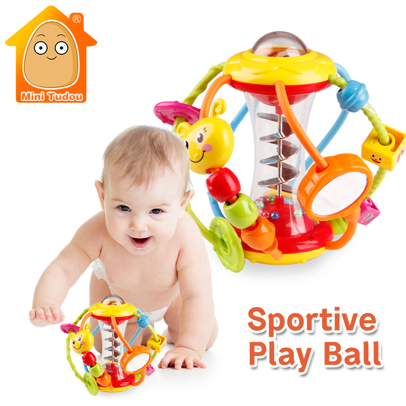 Baby Rattle Activity Ball Baby Rattles Educational Toys For Babies Grasping Ball Puzzle  ...
