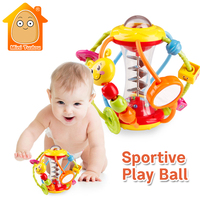 Minitudou Baby Rattle Activity Ball Baby Rattles Educational Toys For Babies Grasping Ball Puzzle Playgro