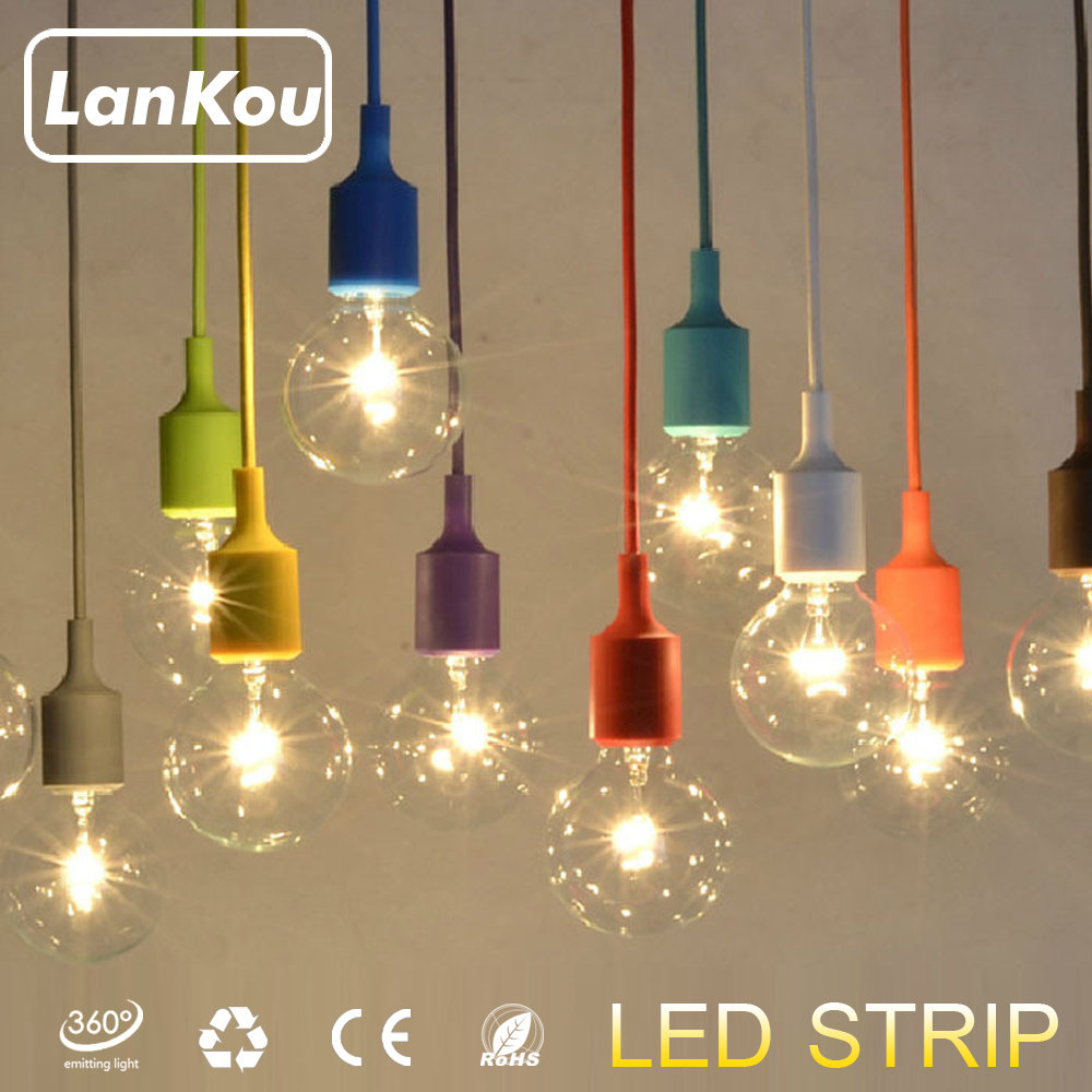 Led Hanglamp Ikea Us 3 99 18 Colors Pendant Lights Silica Gel Modern Ikea Kitchen Lamp Lamparas Led E27 Hanging Rope Vintage Edison Bulb Pendant Light On