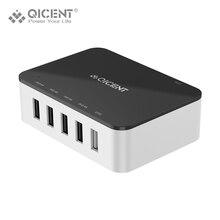 QICENT 4 Порт USB Зарядное Устройство 5V2. 4A Multi Зарядное Устройство Смарт-Мобильный Телефон с 1 otg порт передачи данных для iphone samsung pc ipad