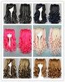 Mcoser longa Light rosa / preto / cinza / brown mixde multi-cor 2 clips lolita Anime perucas peruca de cabelo