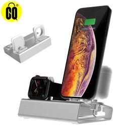 3 в 1 зарядная док-станция держатель для Iphone X XR MAX 8 7 6 5 алюминиевая зарядная подставка Док-станция для Apple watch Airpods
