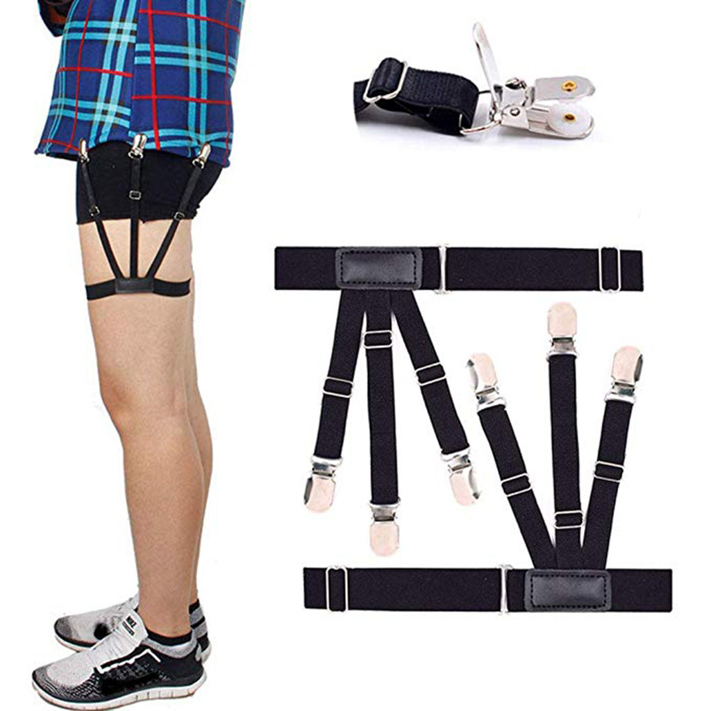 Mens Shirt Stays Upgrade Adjustable Elastic Garter Shirts Holder  Dropshipping Decoration Accessories Discount Discount