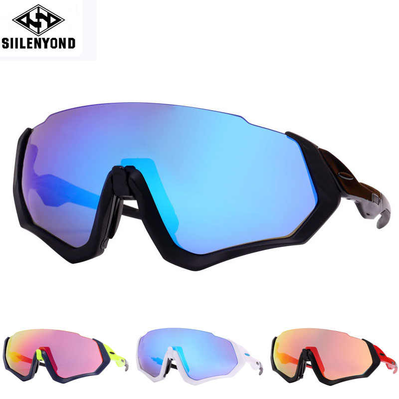 2fac0387b9 Siilenyond 3 Lens Polarized Cycling Sunglasses Men Outdoor Sport Bike  Glasses Bicycle Sunglasses Cycling Glasses Cycling