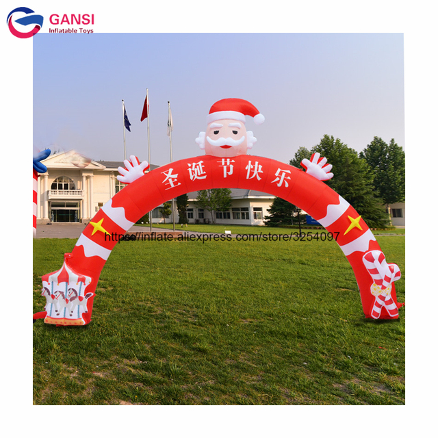 20ft inflatable santa claus archway door designInflatable Christmas arch for festival decoration  sc 1 st  AliExpress.com & 20ft inflatable santa claus archway door designInflatable Christmas ...
