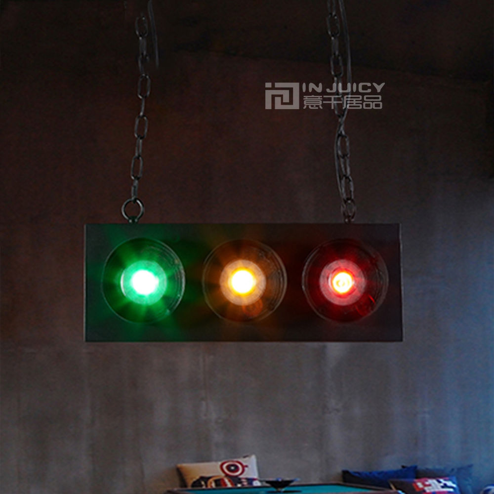 Industrial Traffic Light Vintage LED Pendant Light Cafe Bar Store - Traffic light for bedroom