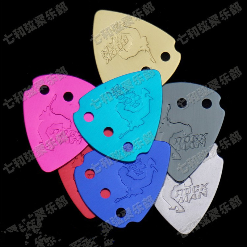 20 Pcs Mix color Aluminium Alloy Guitar Picks Plectrum Playing Heavy Metal guitar picks.Thickness 1.0mm