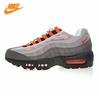 NIKE AIR MAX 95 OG QS Men's Running Shoes,Outdoor Sneakers Shoes,Grey & White,Breathable Shock Absorption Lightweight 810374 078