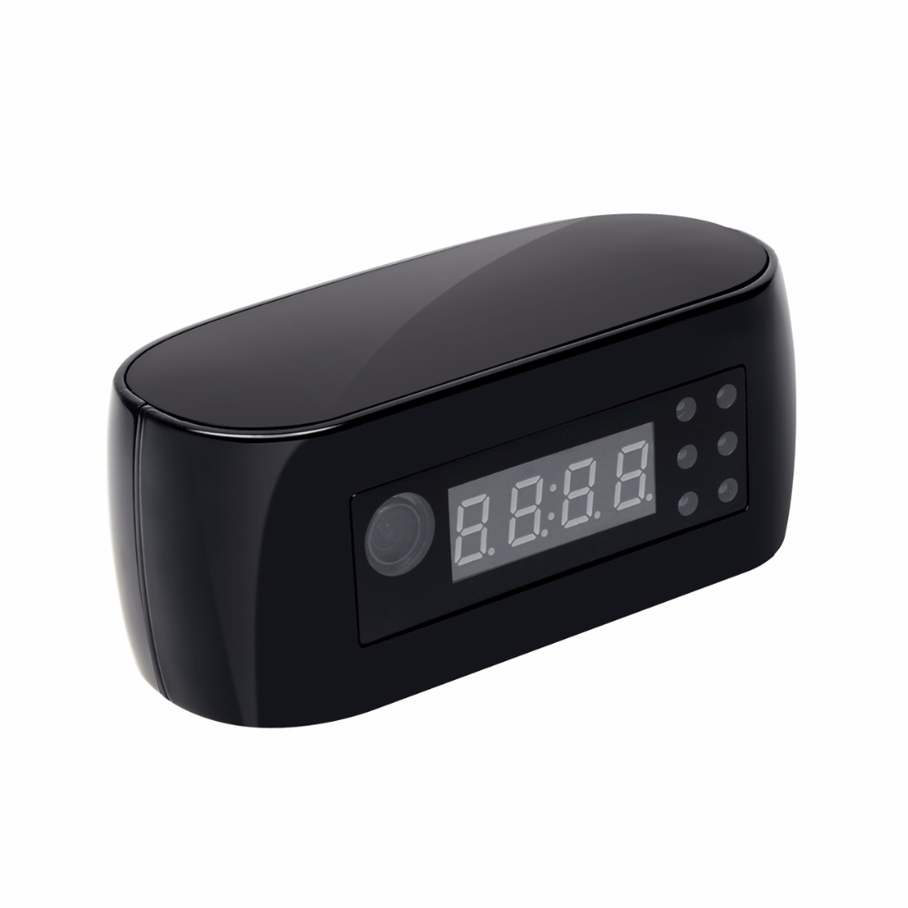 Good quality HD Wifi Camera with Time display Electronic Clock DV Camcorder P2P Motion Detection Mini