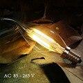 Lâmpada Led Vela E14 Edison Luz de Velas lâmpada com Abajur de Vidro Transparente 2 W 4 W 6 W para o Casamento Decoração de natal Lustre