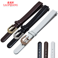 Laopijiang leather watch band female adapter CK K4323209 K4323116 K43231LT 10mm watch strap