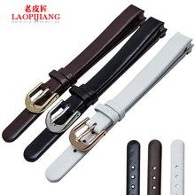 Laopijiang banda de reloj de cuero para mujer adaptador CK K4323209 K4323116 K43231LT 10 mm correa de reloj