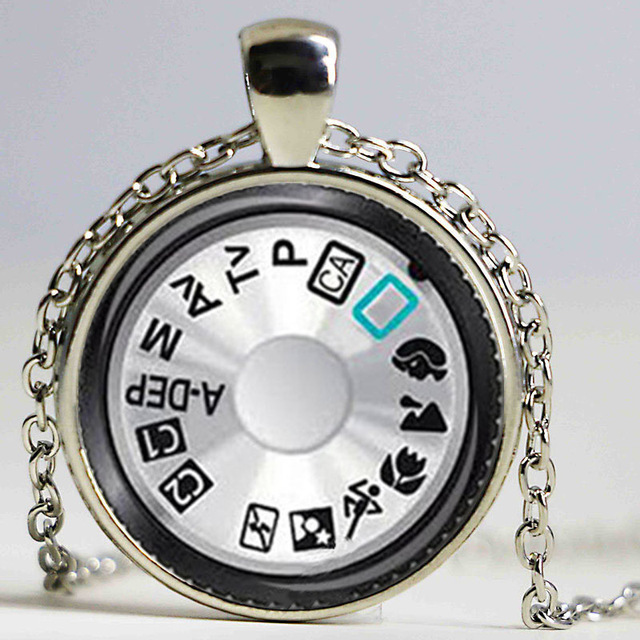 2ac390640f985 US $2.99 |DIAL photography camera pendant silver necklace teal black camera  camera Photographer jewelry gift-in Pendant Necklaces from Jewelry & ...