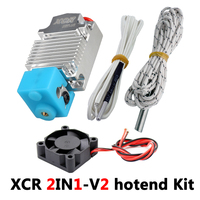 3D Printer hotend 2IN1 Extrusion nozzle Double color printing print head 1.75/0.4 12V/24V 50W 3D Printer Parts