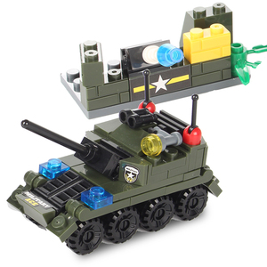 Image 5 - Military Building Block Assembly 8 in 1 Boy Aircraft Tank Explosion proof Special Police Armored Car Marine Corps Boy Toys