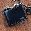 Top navy hombres carteras de cuero con bolsillo de la moneda dólar moda de lujo precios a corto billetera masculina tarjeta hold magia clips del dinero del monedero!