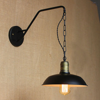 Contemporary Contracted Individuality Creative Lamp Industrial Chain Hoist The Dining Room The Bedroom Wall Lamp Bed