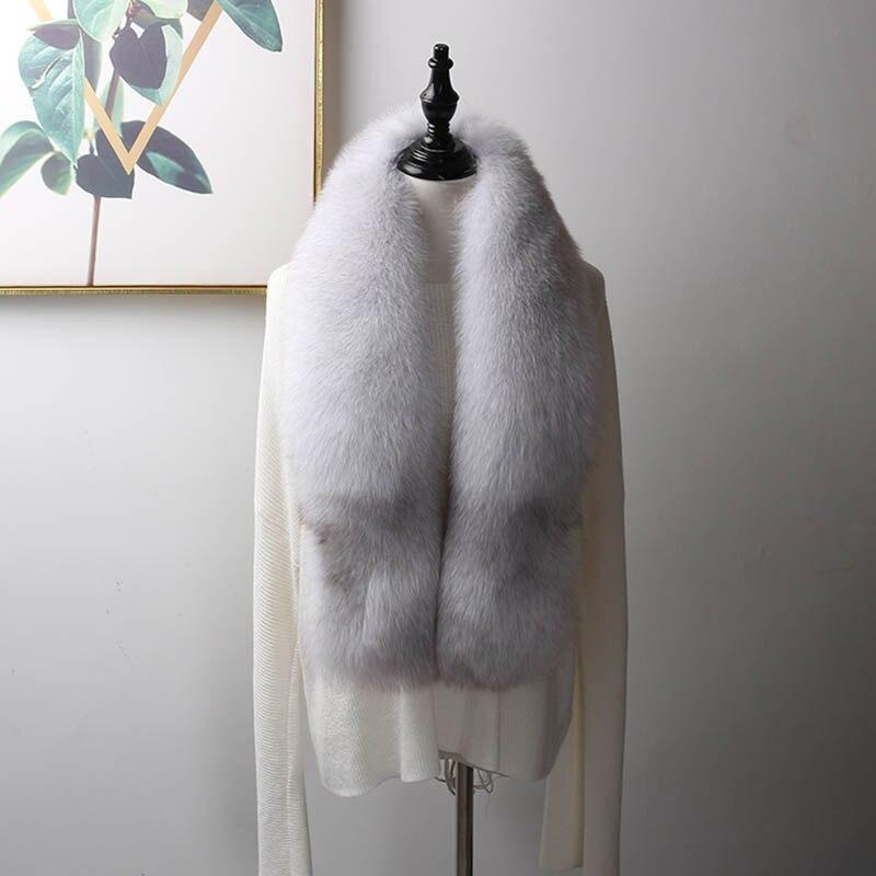 fox skin scarf big fox fur scarf (20)