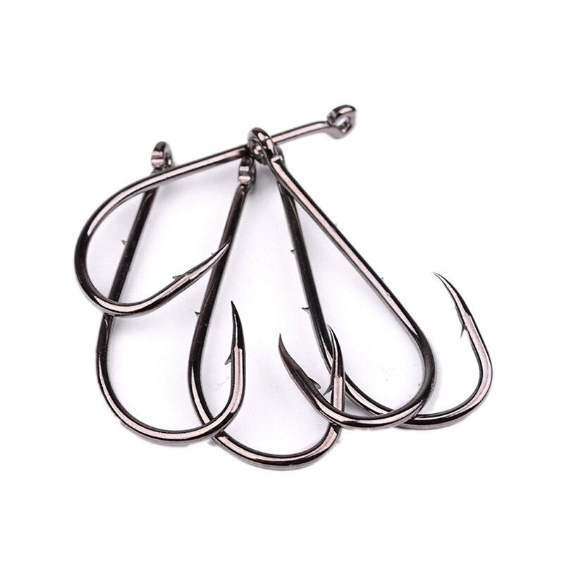 50pc fishhook 1#-6/0# High-carbon steel Jig Big Hook Fishing Accessories