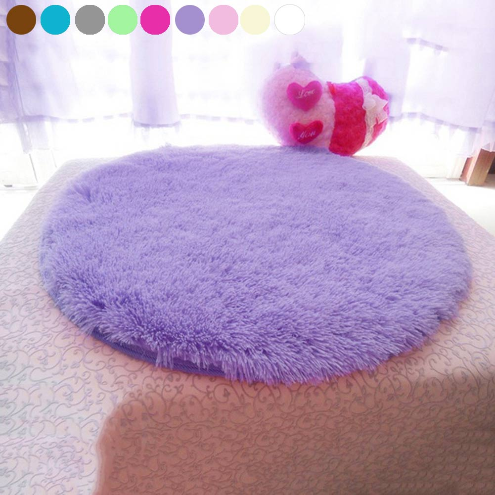 New Anti Slip 40cm Diameter 4.5cm Thicken Round Floor Carpets Living Room  Bathroom Circle Mat Rug TB Sale