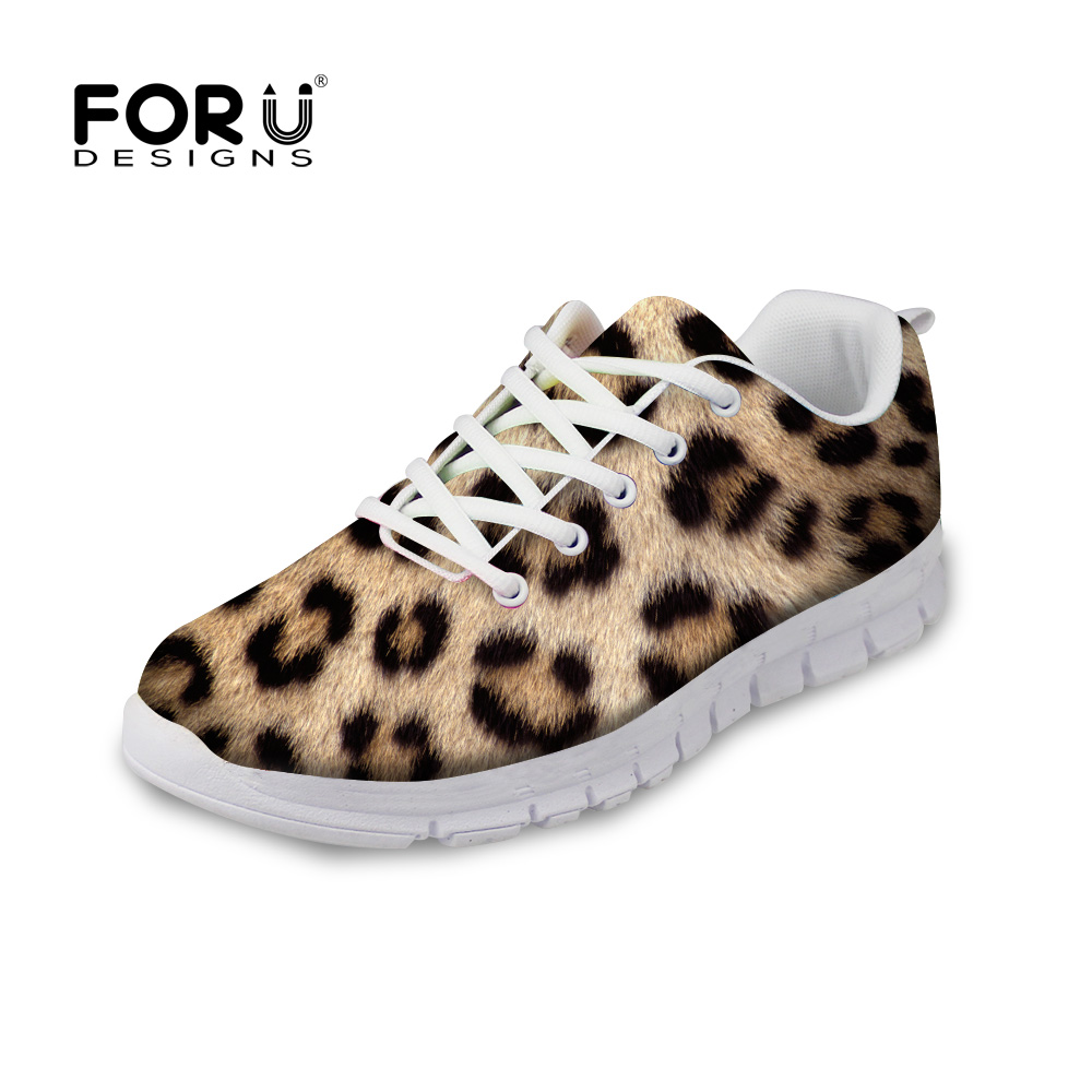 FORUDESIGNS 3D Animal Fur Pattern Flats Shoes Woman Autumn Summer Casual Lace-up Shoes for Women Ladies Breathable Flat Shoes forudesigns cute animal dog cat printing air mesh flat shoes for women ladies summer casual light denim shoes female girls flats