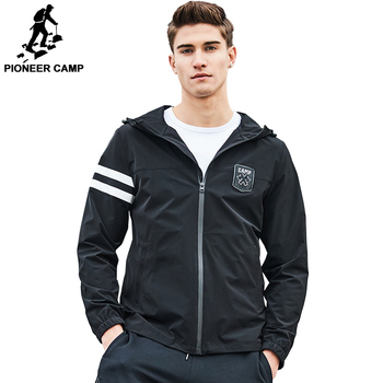 AJK703012 Pioneer Camp brand jacket coat men New arrival fashion hoodie jacket men top quality casual coat male AJK703012