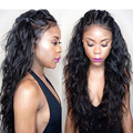 7A Lace Front Human Hair Wigs For Black Women Brazilian Virgin Wavy Hair Wigs Three Part Glueless Full Lace Front Wigs 8-24inch