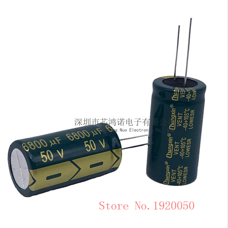 50V6800UF High Frequency Low Resistance Long Life Electrolytic Power Amplifier Audio Electrolytic Capacitor 6800UF 50V 22X40 image