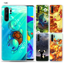 Case for Huawei P30 P20 P10 P9 Mate 10 20 Lite Pro Mobile Cell Phone Bag P Smart Z 2019 Plus Cartoon Pokemons P8 P30Pro P20lite(China)