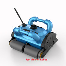 09b4f7c4 Limpiador de piscina Robot azul profundo iCleaner-200 con Cable de 15 m y  carrito de carrito para piscina grande limpiador autom.
