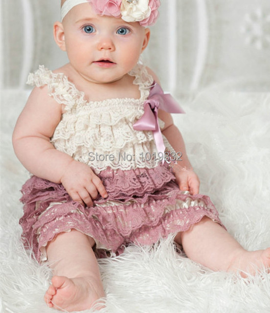 Aliexpress Com Buy Baby Dusty Rose Lace Romper Baby