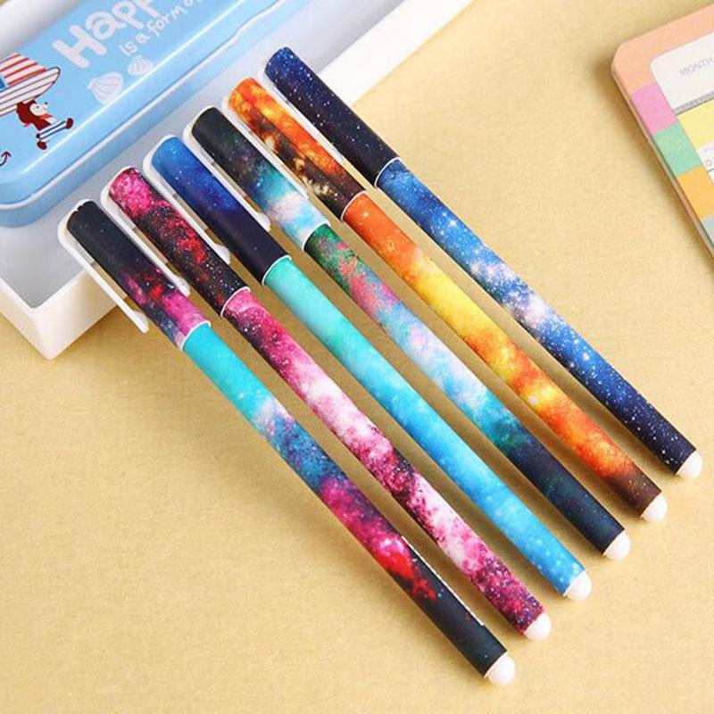 10PCS Star Sky Gel Pen Multi-Pattern Cute Roller Ball Pens Black//colored Ink