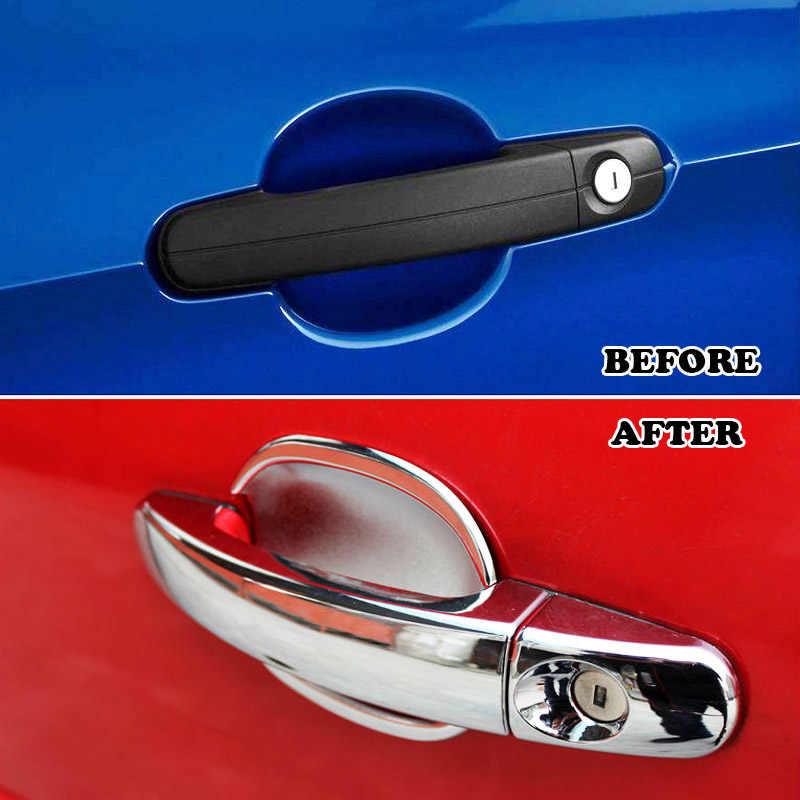 フィット 2005 2006 2007 2008 2009 2010 2011 フォードフォーカス 2 Mk2 クロームドアハンドルカバー + ボウルカップ cap Trim ガーニッシュ成形 2in1