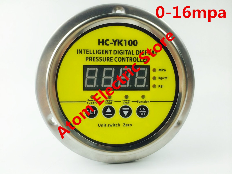 0-16 mpa  AC220V  Digital display electric contact pressure gauge digital controller dmx512 digital display 24ch dmx address controller dc5v 24v each ch max 3a 8 groups rgb controller