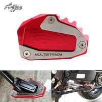 Motorrad Kick Verlängerung Platte Seite Stehen für Ducati Multistrada 1200 Multistrada 1260 Multistrada1200S Multistrada1200GT