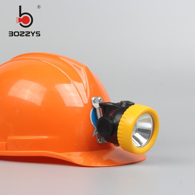 BOZZYS LED 1W 2200mAH LED Mijnwerker Veiligheidskap Lampkoplamp - Draagbare verlichting
