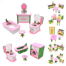 Simulation House Miniature Wooden Furniture DollHouse Accessories Toys Wood Furniture Set Dolls Baby Room For Kids Play Toy cutebee pretend play furniture toys wooden dollhouse furniture miniature toy set doll house toys for children kids toy new house